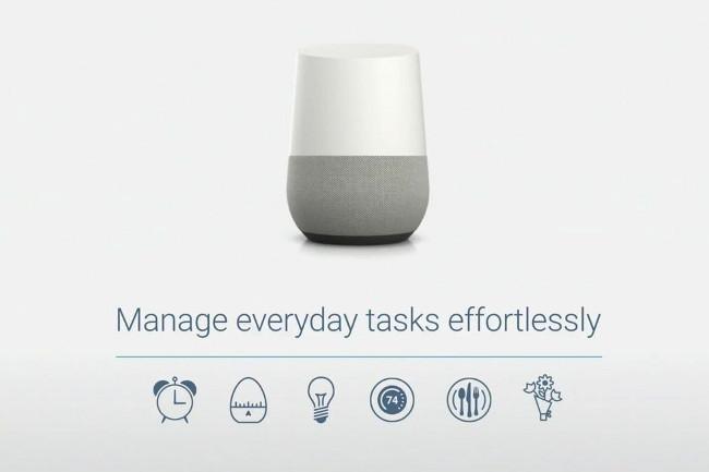 Google Home okosotthon-vezérlő rendszer